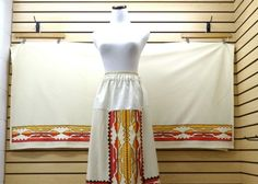 4d53e8d0b8 NICE EXTRA LARGE RIBBONWORK DESIGN NATIVE AMERICAN INDIAN SKIRT AND SHAWL  SET - eBay Find of the Week