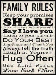Must make this to hang in our house ...with lots of color N my kid's help....