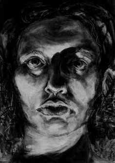 Drawing Charcoal Chiaroscuro 22 Ideas - Everything About Charcoal Drawing and Sculpture Self Portrait Drawing, Ap Drawing, Drawing Faces, Pencil Portrait, Portrait Art, Figure Drawing, Drawing Tips, Charcoal Portraits, Charcoal Art