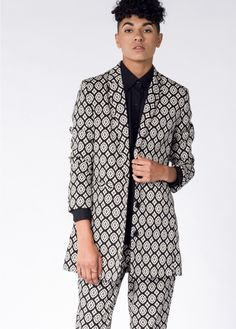 The Kitt Long Blazer by Wildfang.com. BROCADE FOR DAYS.