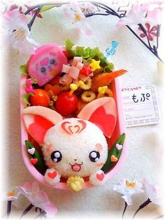 Questo Bento è troppo bello :) Hamyi bento Bento Box Lunch For Kids, Cute Bento Boxes, Lunch Ideas, Lunch Box, Japanese Food Art, Japanese Dishes, Japanese Candy, Cute Food, Yummy Food