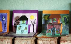 Haunted House Pop-Up Cards - Our Favorite #Halloween Crafts from Pinterest!
