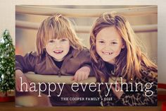 Happy Everything Holiday Postcards by annie clark at minted.com