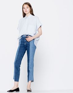 Jeans slim fit bicolor - Jeans - Ropa - Mujer - PULL&BEAR España