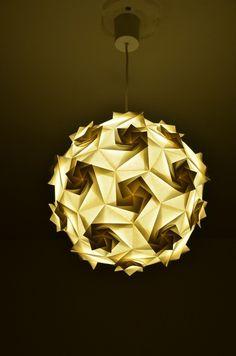 Lampe suspension origami