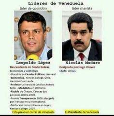 Comparación entre leopoldo lopez y nicolás maduro #venezuela #sosvenezuela #fuerzavenezuela