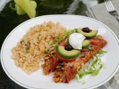 Olga Gonzalez's Enchiladas with Red Sauce : Recipes : Cooking Channel. *Note. I would not just boil chicken in plain water till done. I prefer to cook like my mom used to make it for tacos or enchiladas. It gives the meat good flavor. Do not have exact recipe but I would add chopped onions, carrots and celery to the chicken and water, salt, pepper and boil untill the meat is tender and easily falls apart.