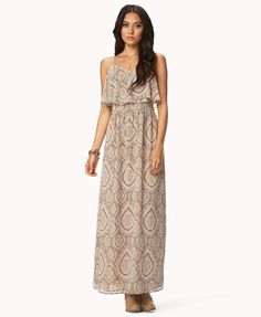 Poetic Flounced Maxi Dress | FOREVER 21 - 2047126970