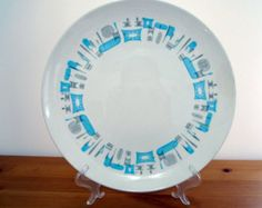 Vintage Royal China Blue Heaven Serving Platter Chop Plate