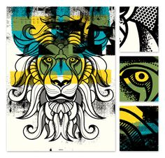 Lion#Repin By:Pinterest++ for iPad# Poster Prints, Posters, Art Prints, Illustration Art, Illustrations, Inspirational Wall Art, Grafik Design, Printmaking, Design Art