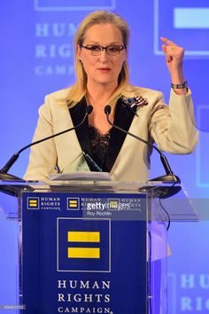 Honoree Meryl Streep speaks onstage during the 2017 Human Rights Campaign Greater New York Gala at Waldorf Astoria Hotel on February 11, 2017 in New York City.