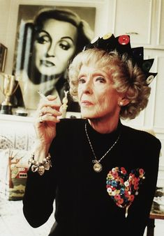 "Bette Davis, 1989; she's the one who said old age ""ain't for sissies""!"