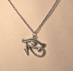 NecklaceEye of Horus Eye of Ra Egyptian by CrystalinasCreations, $12.95