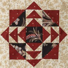 2012 Mystery Quilt from American Patchwork & Quilting: Block 6 Star Quilt Blocks, Quilt Block Patterns, Pattern Blocks, Quilting Projects, Quilting Designs, Patchwork Designs, Quilting Ideas, American Patchwork And Quilting, Seminole Patchwork