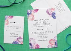 Watercolor Wedding Invitations by Fine Day Press via Oh So Beautiful Paper (6)