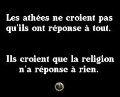 La religion a réponse à tout mais n'explique rien!