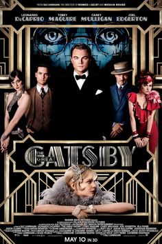 The Great Gatsby Poster- FINALLY coming out May 10.  My first order of business- I need that red dress with ruffle.  Absolutely.