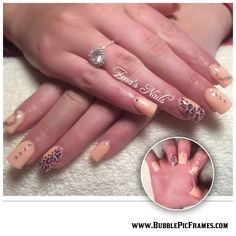 Acrylic nails with detail