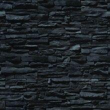 Papel de Parede Pedras em Filetes Preta