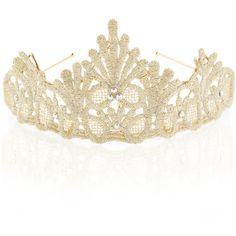 Monsoon Lace Diamante Tiara ($14) ❤ liked on Polyvore featuring accessories and hair accessories