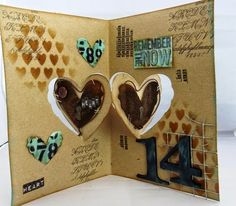 Tracy Evans using the Pop it Ups Heart Pivot Card die by Karen Burniston for Elizabeth Craft Designs. - Tracy Evans: Karen Burniston Pop it Ups Designer Challenge - Artsy or Cutesy