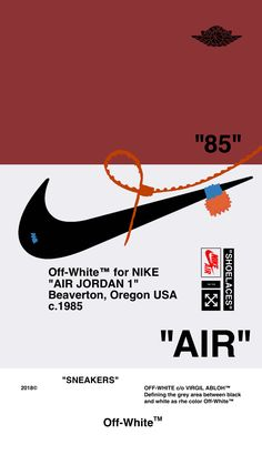 "Off-White™WALLPAPER IPHONE 壁紙 18/5/7 ""AIR JORDAN 1"" OFFWHITE オフホワイト android"