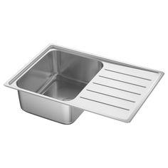 IKEA   VATTUDALEN Single Bowl Top Mount Sink Stainless Steel