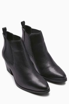 Black Cuban Chelsea Ankle Boot