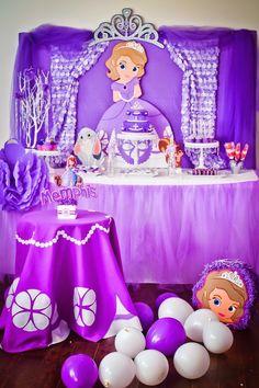 Sofia the First Birthday Party via Kara's Party Ideas .com I KarasPartyIdeas.com #PrincessParty #SofiaTheFirst #PartyIdeas #DisneyPrincess