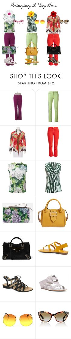 """""""Bringing it Together"""" by time2bu ❤ liked on Polyvore featuring Arizona Jean Company, Etro, Roberto Cavalli, Mother, Dolce&Gabbana, Burberry, Balenciaga, Naturalizer, Donald J Pliner and Oliver Peoples"""