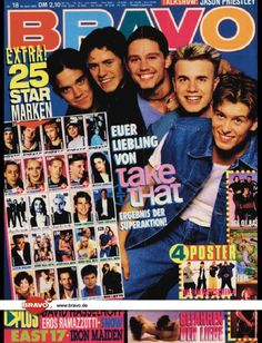 A cover gallery for Bravo Jason Priestley, Iron Maiden, Take That Band, Brave, Gary Barlow, Star Wars, Oppression, My Boys, Boy Bands