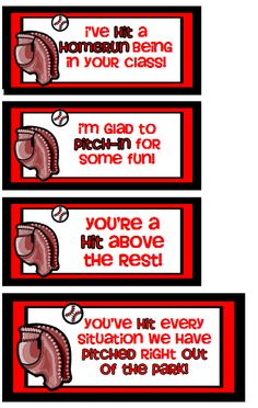 Tags for baseball bat/ball gift for recess for the teacher/classroom.  Other recess items {free printables} available.