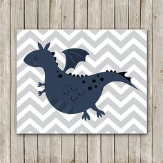 Dragon Print 8x10 Instant Download Dragon by MossAndTwigPrints, $5.00