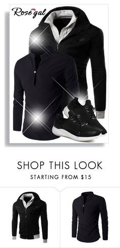 """""""Rosegal 44."""" by belma-cibric ❤ liked on Polyvore featuring men's fashion, menswear, shirt, coat, man and rosegal"""