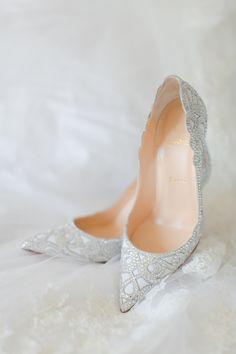 Fairytale wedding shoes: http://www.stylemepretty.com/2016/01/31/beautiful-bridal-wedding-shoes/