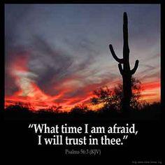 Imagem inspirada para Salmos 56: 3