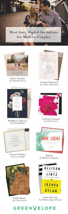 From vintage botanicals to modern photo inserts, select and customize the invitation that suits your personal style. With all of the style and none of the stress, wedding invites have never been easier than with Greenvelope.com