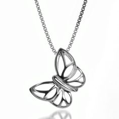 Silver Butterfly Pendant Butterfly Pendant, Beautiful Gifts, Shapes, Jewellery, Detail, Flowers, Silver, Jewels, Jewelry Shop