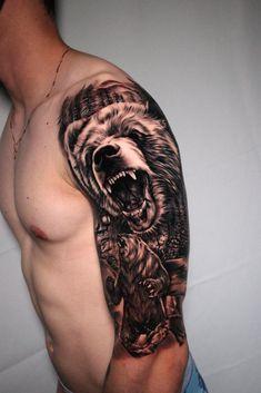 Preto e Cinza na tatuagem: 31 artistas brasileiros para seguir - Blog Tattoo2me Tattoo Guerreiro, Tattoo Brazil, Skull, Tattoos, Tattoo, Santiago, Tatuajes, Tattos, Skulls