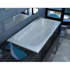 "Spa Escapes Anguilla 58.5"" x 35.5"" Rectangular Soaking Bathtub with Reversible Drain"