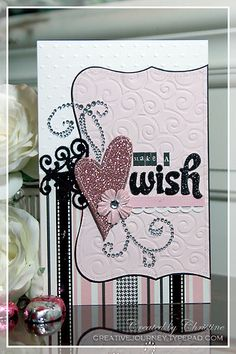 Pink Make a Wish Card - Gallery Idol 2009 by ca_scrappin, via Flickr