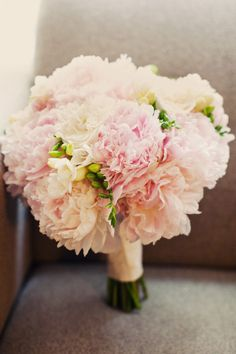 @Leslie Lippi Ferrell do you like this much blush? I think it would be prettier to do less peonies, add garden roses and ranunculus for you.