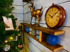Copper clock and reindeer