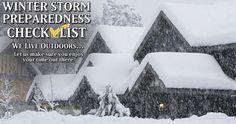 Winter Storm Preparedness Checklist : Checklists   Gander Mountain : Free shipping over $50.