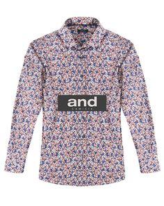 Camicia uomo con microfantasia floreale. La trovi su www-and-camicie-store.com