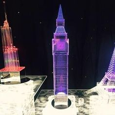 Big Ben centrepiece for hire in London and around the UK. Book our centrepiece for your event.