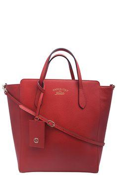 a67fb910ba3 Gucci Medium Swing Leather Tote NWT (Retail 1455)