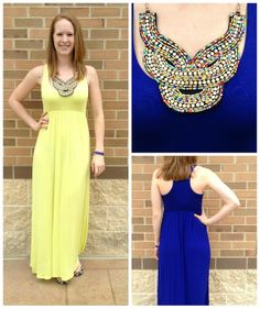 Probably the most comfortable dress you will ever wear! Available in blue and lemon yellow at Apricot Lane Center Valley