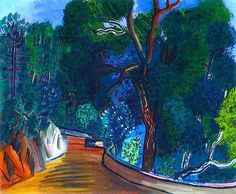 Cork Trees in Vallauris by Raoul Dufy (France)