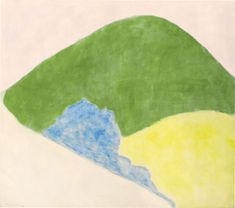 """Mountain and Meadow,"" Milton Avery, 1960. oil on canvas, 60 × 68"", National Gallery of Art."